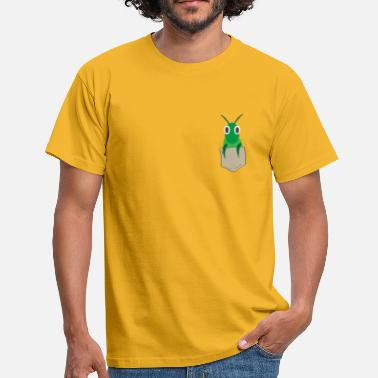 Pray For Germany Funny praying mantis in breast pocket - Men's T-Shirt