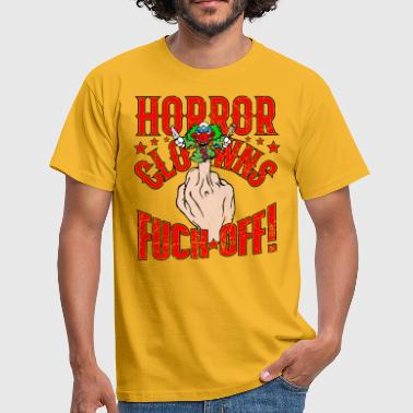 Horror Clowns Fuck Off rot - Männer T-Shirt