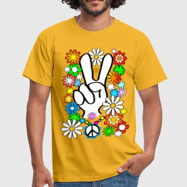 Flower Power Peace - Männer T-Shirt
