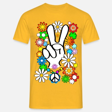 Flower Power Flower Power Peace - Männer T-Shirt