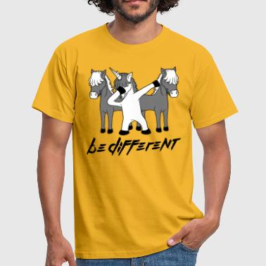 Lets Ride text different be different team crew party dabbing u - Men's T-Shirt
