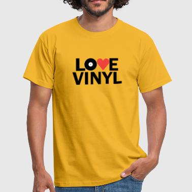 Milk Music Love Heart Vinyl Records - Men's T-Shirt