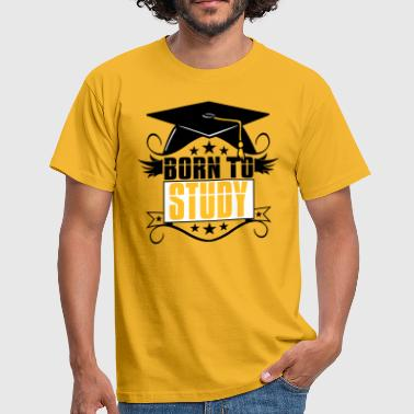 study learn college graduation high school diploma - Men's T-Shirt