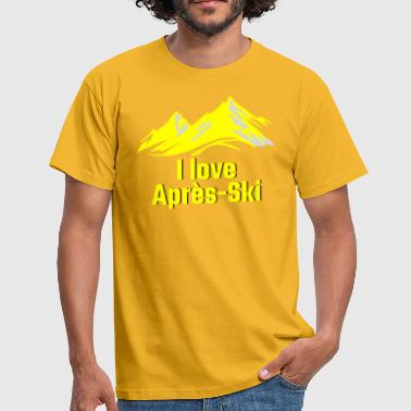 I LOVE APRES SKI yellow - Men's T-Shirt