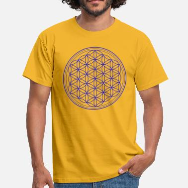 Suppression Flower of life in blue - Men's T-Shirt
