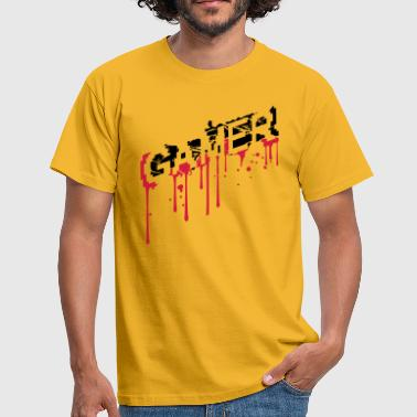 Gamer Graffiti tropfen graffiti gamer cool risse kratzer logo wah - Männer T-Shirt