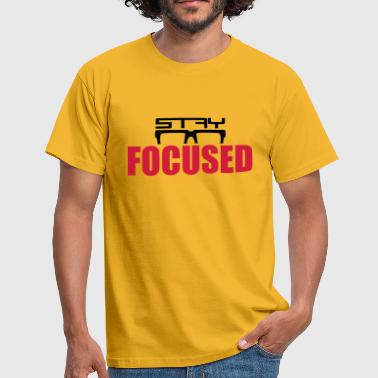 stay focused saying glasses logo horn glasses design - Men's T-Shirt