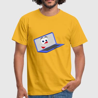 Geïllustreerde lachen notebook - Mannen T-shirt