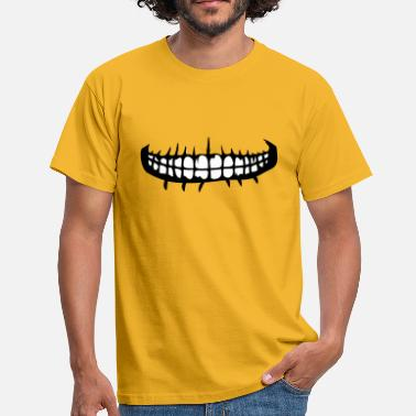 Grinning teeth mouth grin horror halloween scary boes - Men's T-Shirt