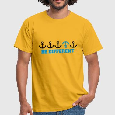 text be different different row pattern anchor many - Men's T-Shirt