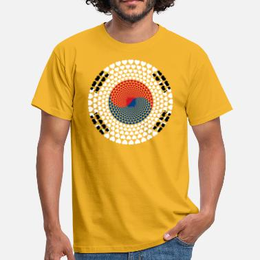 Korean South Korea Süd Korea 대한민국, 大韓民國 HERZ Mandala - Männer T-Shirt