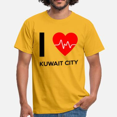 Kuwait City I Love Kuwait City - Jeg elsker Kuwait City - Herre-T-shirt