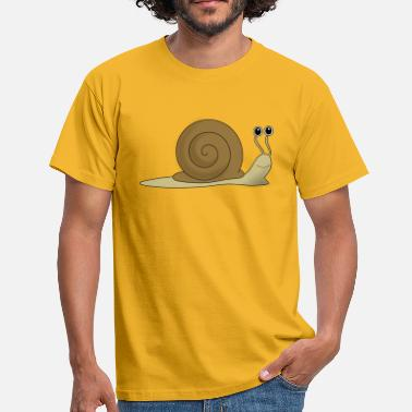 Snail Brown snail - Men's T-Shirt
