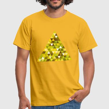 Vintage Geek Triangle Geek Hipster Ornament Grunge Retro Vintage - Men's T-Shirt