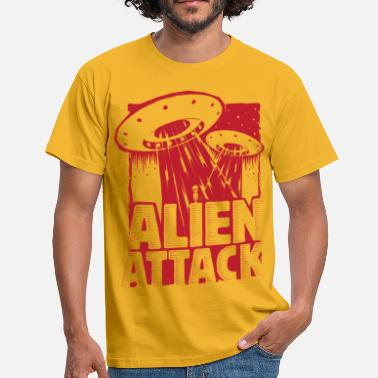 Alien Attack - T-shirt Homme