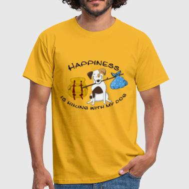 Hiking Dogowner Dog Backpacker Nature Pet Love - Men's T-Shirt