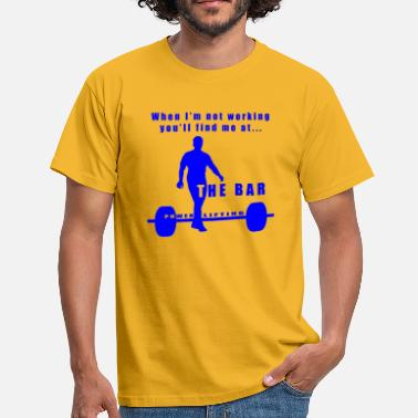 Power Lifting Power Lifting - The Bar - Mannen T-shirt