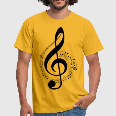 Treble clef and musical scope - Men's T-Shirt