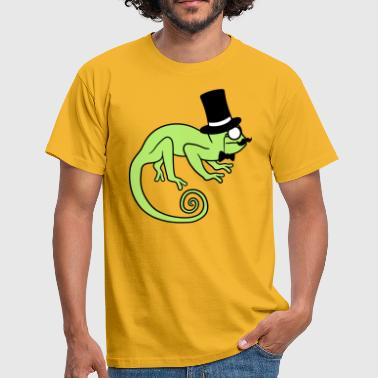 Cobra Sir gentlemen cylinder hat monocle glasses rei - Men's T-Shirt