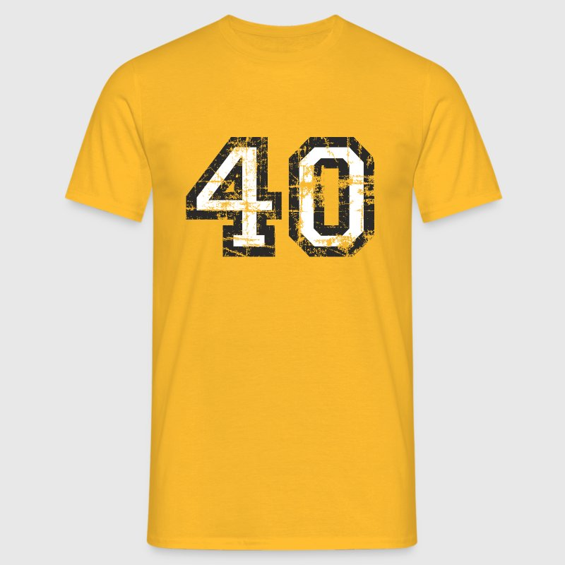 Number 40 Forty 40th Birthday Design (EU) - Men's T-Shirt