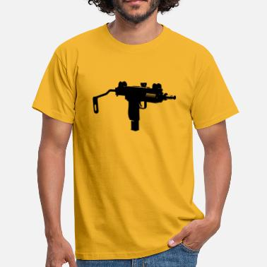Machinepistool Uzi machinepistool silhouet - Mannen T-shirt
