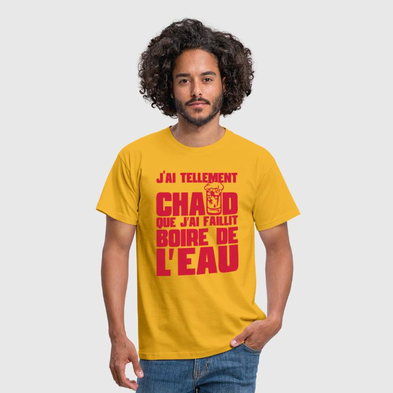 citation alcool humour tellement chaud  - T-shirt Homme