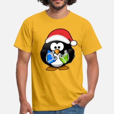 Funny Penguin Christmas penguin - Men's T-Shirt