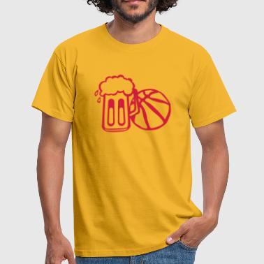 biere basketball ballon ensemble verre  - T-shirt Homme