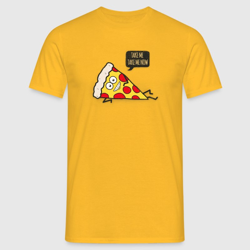 Funny Cartoon Pizza - Statement / Funny / Quote - Men's T-Shirt