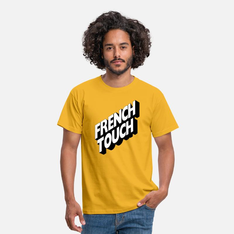 Touch T-shirts - French Touch - T-shirt Homme jaune