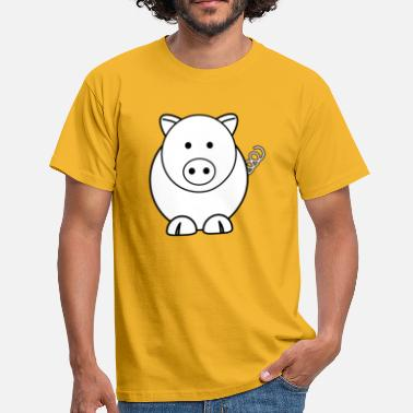 Rock Pig Pig house pig pig teacup - Men's T-Shirt