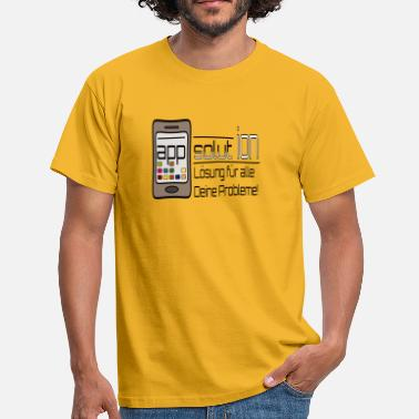 Mobile App (app)solution - Männer T-Shirt
