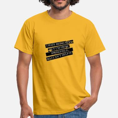 Springfield Motive for cities and countries - SPRINGFIELD - Men's T-Shirt