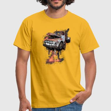 Bil rusty car - T-shirt herr