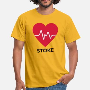 Stoke-on-trent heart Stoke - Men's T-Shirt