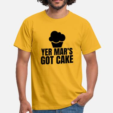 Yer Mar's Got Cake Design - Black - Men's T-Shirt