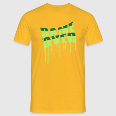 drop graffiti game over puke handed over - Men's T-Shirt