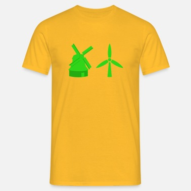 Oud Hollands windmolen - Mannen T-shirt