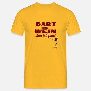 Bart Wein Geschenk Geburtstag Mann Kumpel Freund Manner Premium T