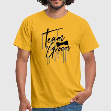 tropfen graffiti fliege text maenner team groom ma - Männer T-Shirt