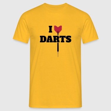 I LOVE DARTS SHIRT - Mannen T-shirt