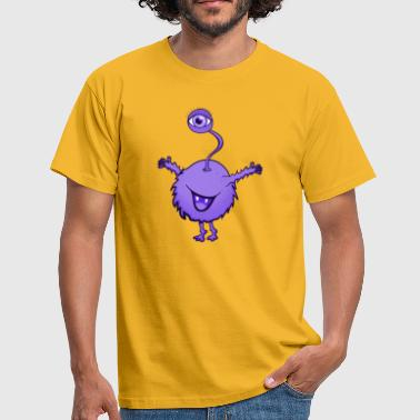 One-eye Monster purple with one eye - Men's T-Shirt