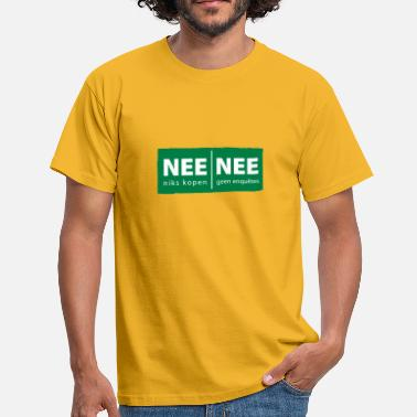 Enquête nee nee sticker - Mannen T-shirt