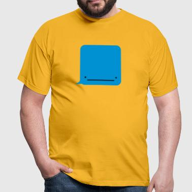 Whale ( Text Message ) - Men's T-Shirt