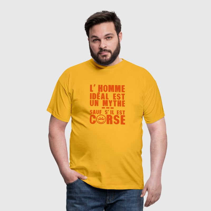 corse homme ideal mythe humour citation - T-shirt Homme