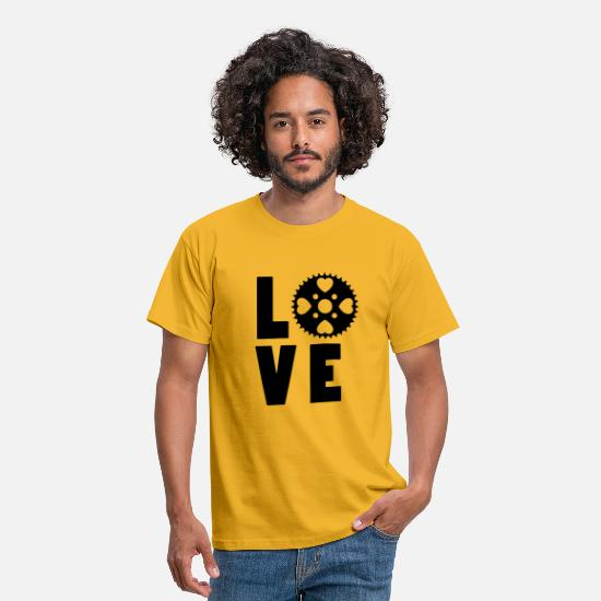 Cycling T-Shirts - Love to Bike - Men's T-Shirt yellow