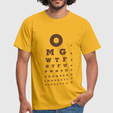Eye test - Mannen T-shirt