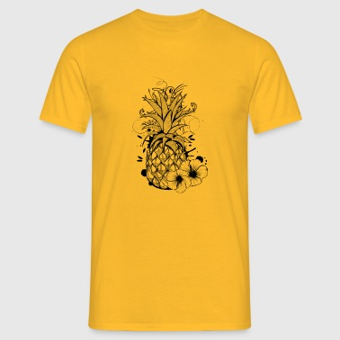 Pineapple with hibiscus blossom - Men's T-Shirt