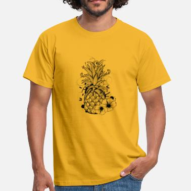 Collections Pineapple with hibiscus blossom - Mannen T-shirt