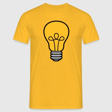 bulb light electricity idea smart thinking loes - Men's T-Shirt